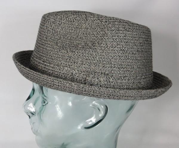 Bailey Hats Billy Player Pork Pie Trilby Hut Hat Strohhut Sommerhut grau Neu