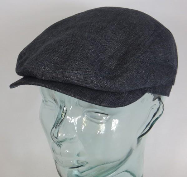 STETSON DRIVER CAP Linen Flatcap Leinen Sommer Mütze Belfast denim 6383101 NEU