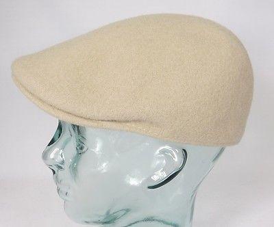 KANGOL Wool 507 SEAMLESS Flatcap Wolle Mütze Cap Kangolmütze Kangolcap beige NEU