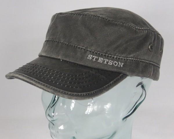 STETSON DATTO LINED gefüttert Armycap Kubacap Cap Mütze Wintermütze schwarz Neu