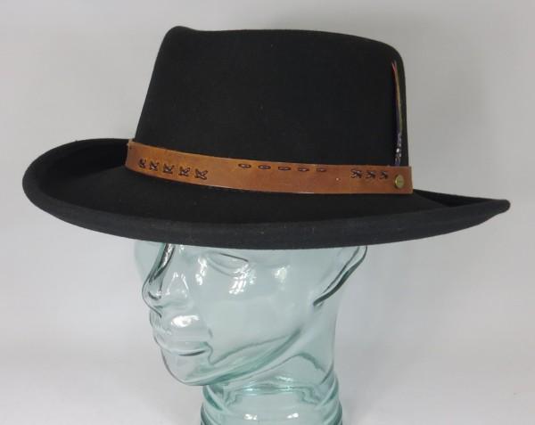 STETSON GAMBLER Hut Wollfilz Western Cowboy Outdoor Hat schwarz 3598111 Neu