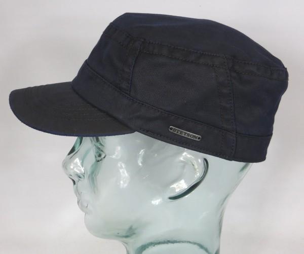STETSON Army Cap Kuba Mütze co/pe Fullcap Armee Basecap blau 7431501 NEU