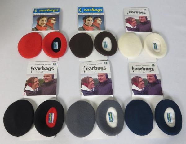 EARBAGS Ohrwärmer Ohrenschützer Earbag Earmuffs Fleece 6 Farben Größe M Neu
