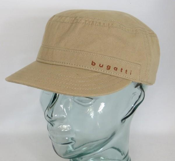 BUGATTI Army Cap Kubacap Baumwolle Sommermütze Schirmmütze beige Neu