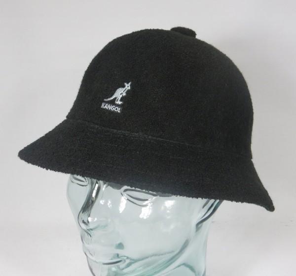 KANGOL BERMUDA CASUAL Bucket Hat Bobby schwarz Sommer Hut Mütze NEU