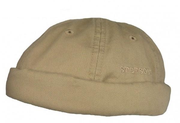 STETSON OCALA Docker Mütze Cap Skullcap Sailorcap Rollrand beige 8831101 Neu