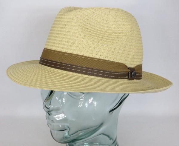BUGATTI SOMMERHUT Bogart Hut Strohhut knautschbar Sonnenhut Fedora Hat beige NEU