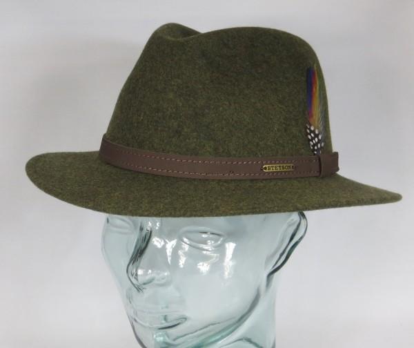 STETSON Powell Woolfelt Outdoor Trecking Jagd Hut Traveller Wollfilz grün Hat Neu