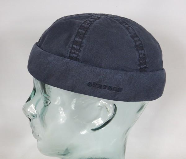 STETSON Docker Mütze Organic Cotton Skullcap Sommer Sailor Cap blau 8821107 NEU