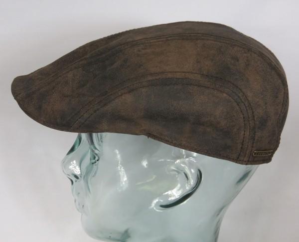 STETSON Madison Leather Flatcap Leder Ivy Cap Schieber Mütze Pigskin braun NEU