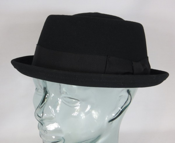 BAILEY Hat DARRON PORK PIE Hut Wollfilz schwarz Porkpie Trilby NEU