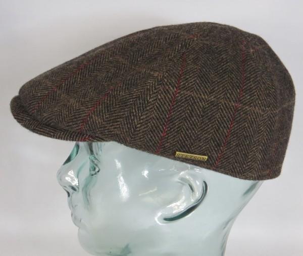 STETSON HIKO Wool Flatcap Mütze Ivy Cap Wintermütze Gatsby 6620505 braun Neu