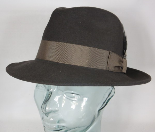 BAILEY OF HOLLYWOOD BLIXEN Fedora Hut Wollfilz grau Wollhut Bogart Hat NEU