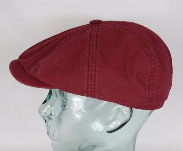 STETSON HATTERAS Organic Cotton Mütze Kappe Flatcap Cap Baumwolle rot NEU