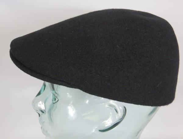 KANGOL Wool 507 SEAMLESS Flatcap Schwarz Wolle Mütze Cap Gatsby Neu