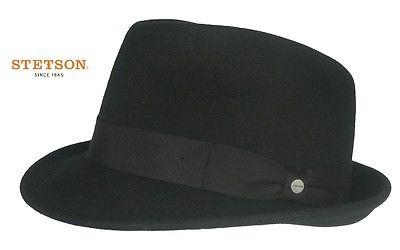 STETSON TRILBY Hut ELKADER schwarz Wollhut Wollfilz Hat 1148101 NEU