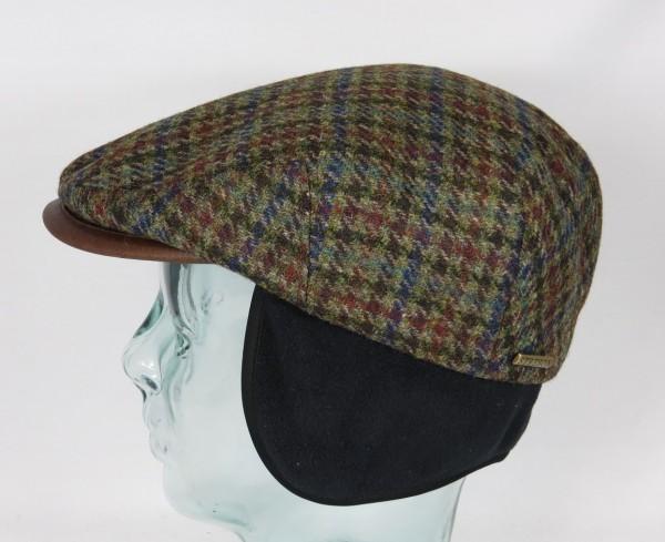 STETSON KENT Wool Flatcap Cap Mütze mit Ohrenklappen Earflaps Schirmmütze Neu