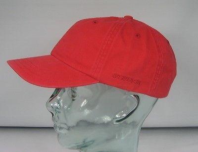 STETSON RECTOR Baseballmütze Cap Mütze Rot Basecap Kappe Baumwolle Sun Guard NEU