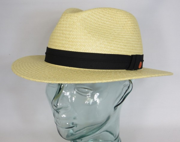 MAYSER PANAMAHUT GERO Stroh Panama Hut Natur Sonnenhut Hat flache Form NEU