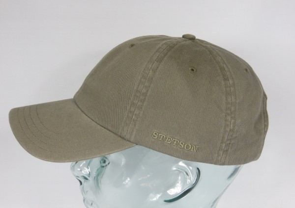 STETSON RECTOR Baseball Cap Basecap Kappe Mütze oliv Baumwolle Sun Guard NEU