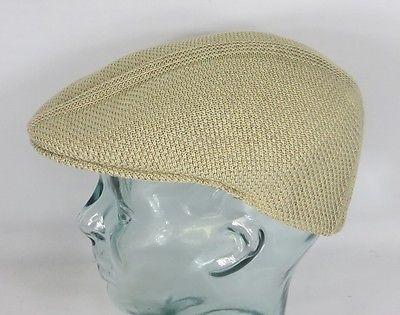 KANGOL RIDGE STRIPE 504 Flatcap Ivy Cap beige Sommermütze Golfcap Mütze NEU