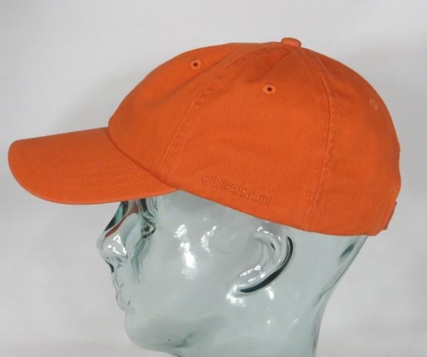 STETSON RECTOR Baseballmütze Cap Mütze orange Basecap Kappe Baumwolle Sun Guard NEU