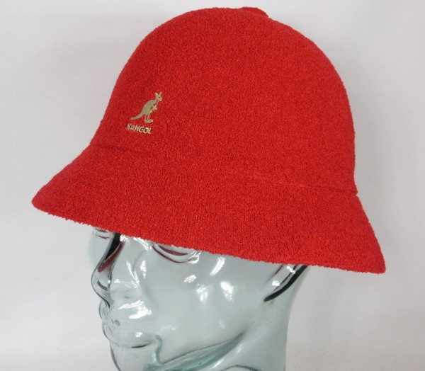 KANGOL BERMUDA CASUAL Bucket Hat Bobby rot Sommer Hut Mütze NEU
