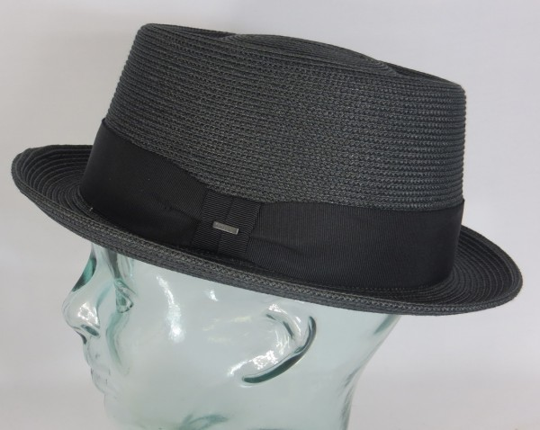 Bailey Hats Waits Pork Pie Hut Hat Strohhut Sommerhut schwarz Neu