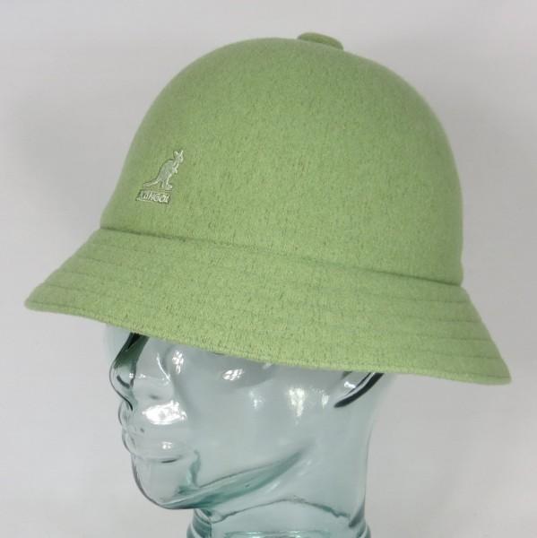 KANGOL WOOL CASUAL Bucket Hat Bobby oil green Glocken Hut Mütze NEU