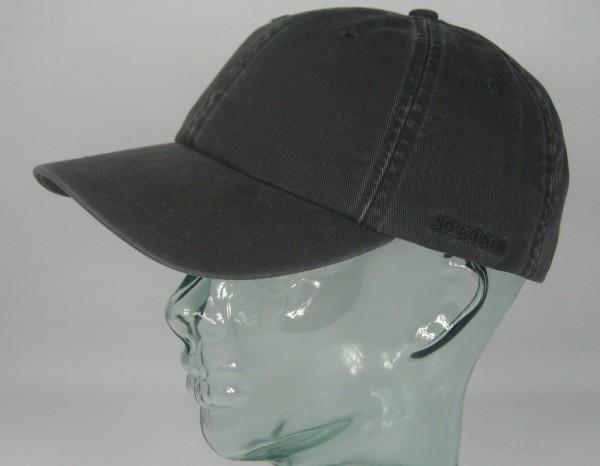 STETSON RECTOR Baseball Cap Basecap Kappe Mütze grau Baumwolle Sun Guard NEU