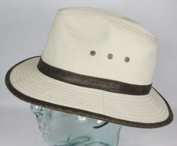 STETSON AVA Baumwolle Traveller Hut Trekking Outdoor UV Schutz beige Neu 2541109