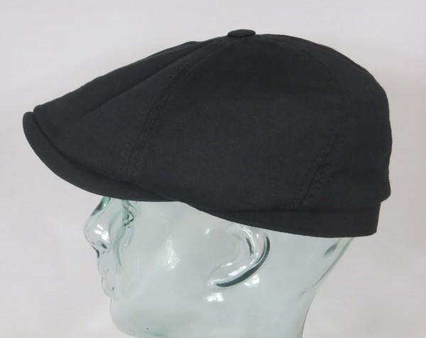 STETSON Brooklin cotton 6-Panel Cap Flatcap Schieber Mütze schwarz 6641110 NEU