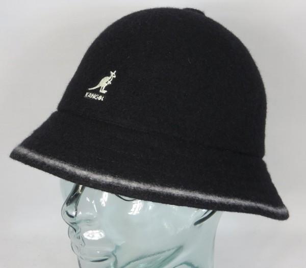 KANGOL STRIPE CASUAL Hut Bucket Hat Bobby schwarz Mütze NEU