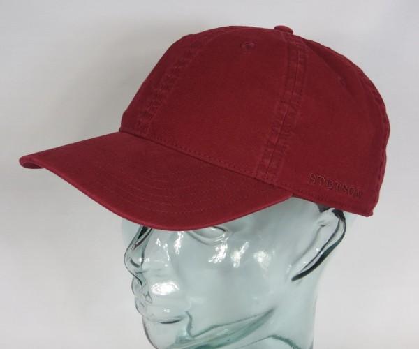 STETSON DUCOR Organic Cotton Basecap Sommer Mütze Kappe Cap rot UV Schutz NEU