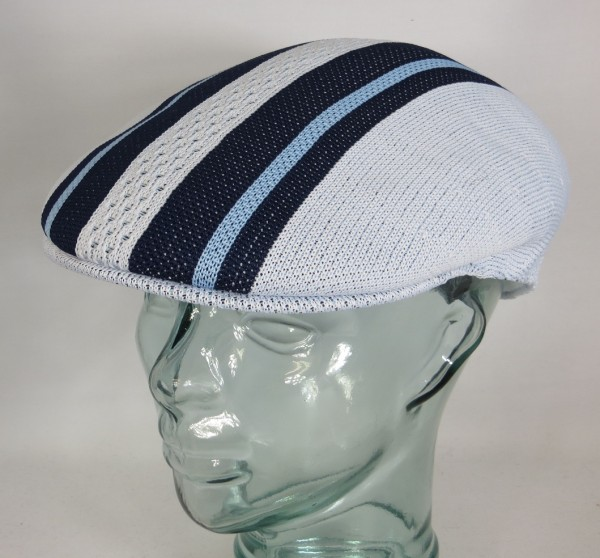 KANGOL Vented Stripes 504 Flatcap Ivy Cap Sommermütze Golfcap Mütze blau NEU