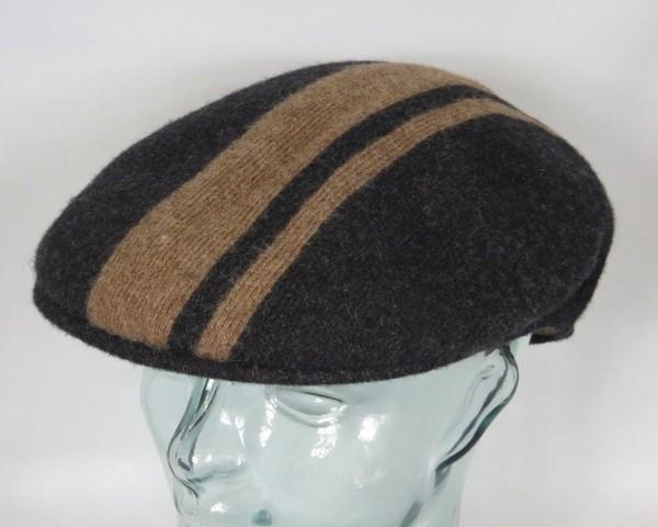 KANGOL CODE STRIPE 504 Flatcap Ivy Cap schwarz Wintermütze Golfcap Mütze NEU