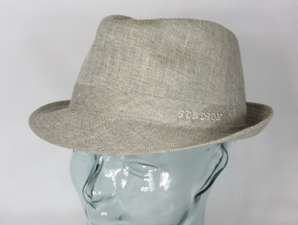 STETSON OSCEOLA TRILBY HUT Leinen Linen Hat Stoffhut 1113501 beige NEU