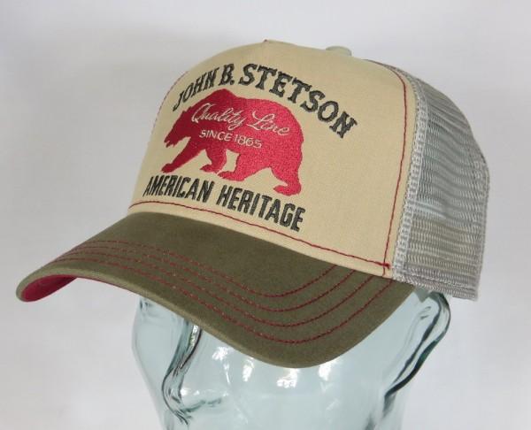 STETSON Trucker Mesh Cap Netz Kappe BASECAP SNAPBACK Sommermütze Bear 7751101 NEU