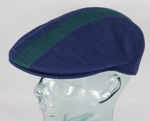 KANGOL PATH STRIPE 504 Flatcap Ivy Cap blau Sommermütze Golfcap Mütze NEU