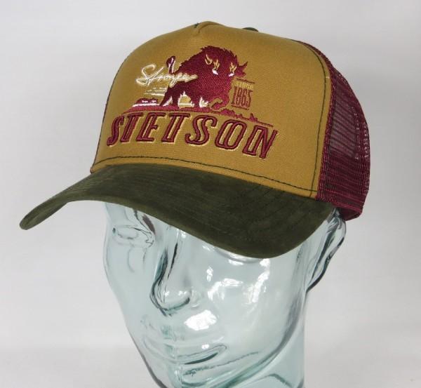 STETSON Trucker Cap Mesh Netz Kappe BASECAP SNAPBACK 7751176 Stronger Bison NEU