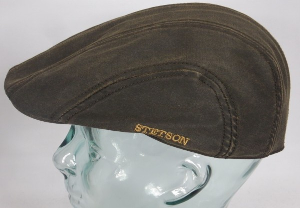 STETSON MADISON co/pe Flatcap Ivy Cap Mütze Baumwolle Leder Optik 6121101 NEU