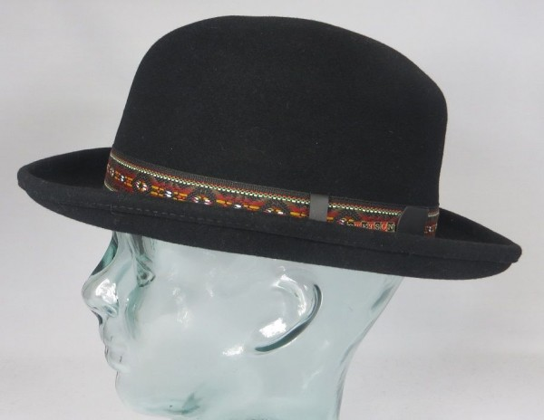 STETSON HARWICH VitaFelt Bowler Hat Melone Gambler Poker Hut Wollfilz Neu