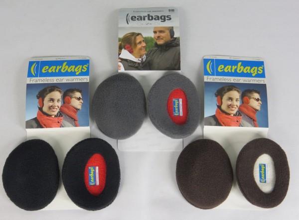 EARBAGS Ohrwärmer Ohrenschützer Earbag Earmuffs Fleece 3 Farben Größe M Neu