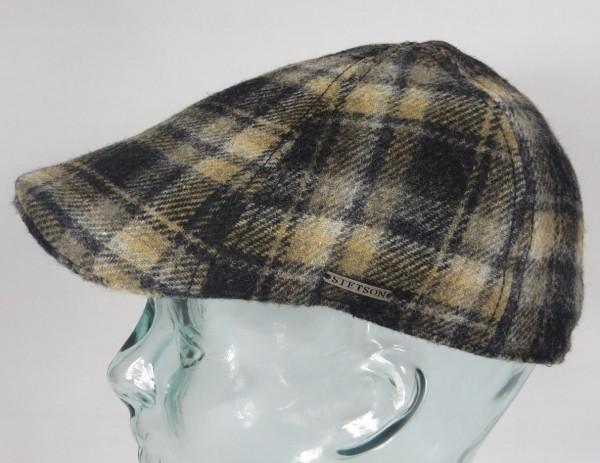 STETSON TEXAS Glencheck Flatcap Mütze Ivy Cap Wintermütze Gatsby Neu
