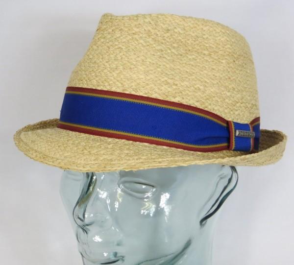 STETSON TRILBY SOMMER HUT Strohhut beige Sonnenhut Straw Hat 1238513 NEU
