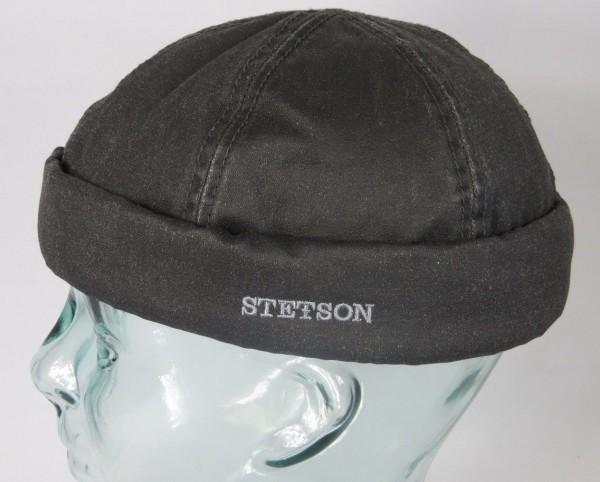 STETSON Docker Mütze Skullcap Docker Cap Wintermütze gefüttert grau 8821105 NEU