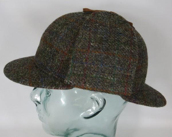 BULLANI Sherlock Holmes Mütze Deerstalker Jagd Made in Germany Harris Tweed Neu