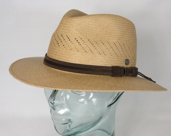 VINTIMILLA Panama Hut Strohhut Fashion Air Stroh Sommer Hat Traveller maroon Neu