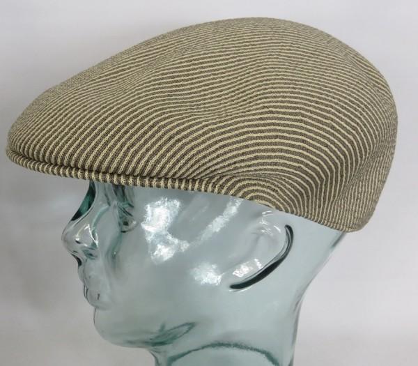 KANGOL STRIPE 504 Flatcap Ivy Cap beige Sommermütze Golfcap Mütze NEU