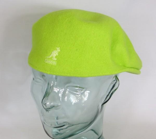 KANGOL WOOL 504 Flatcap grün bio lime Wolle Mütze Cap Pepe Schiebermütze Neu
